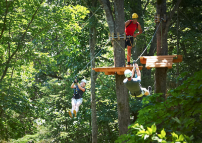 Zip-Lining and Rock Climbing