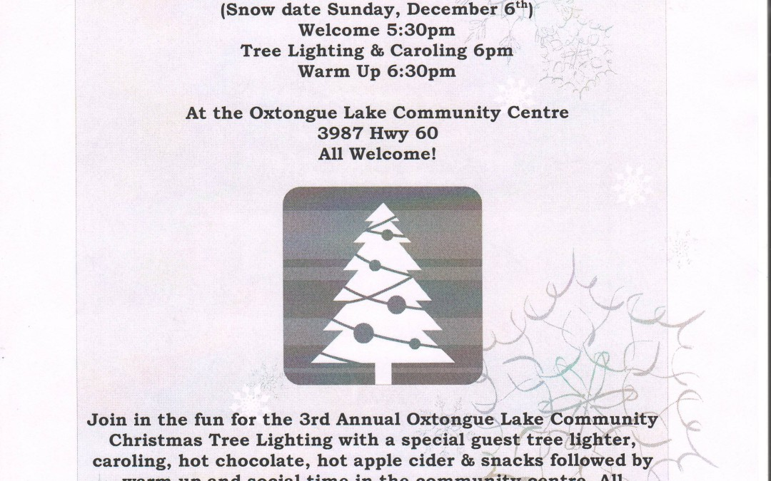 3rd Annual Oxtongue Lake Community Christmas Tree Lighting