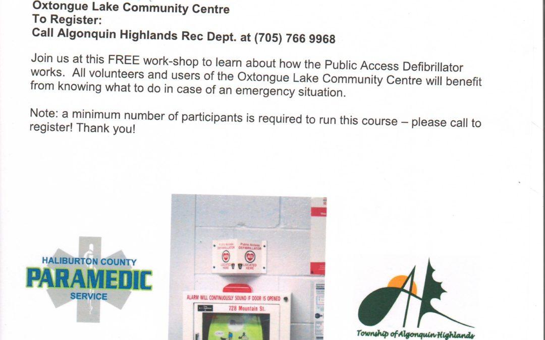 Public Access Defibrillator Training